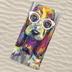 Joshua the Basset Hound Beach Towel