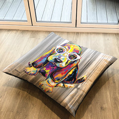 Joshua the Basset Hound Floor Cushion