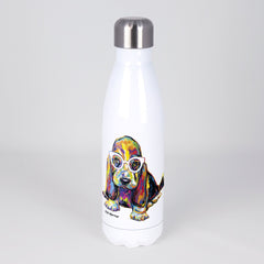 Joshua the Basset Hound Stainless Steel Water Bottle
