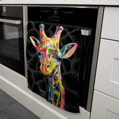 Sebastian the Giraffe Tea Towel