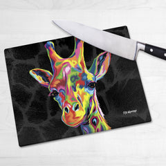 Sebastian the Giraffe Chopping Boards