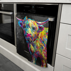 Reuben the Highland Cow Tea Towel