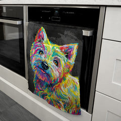 Marvin the Westie Tea Towel