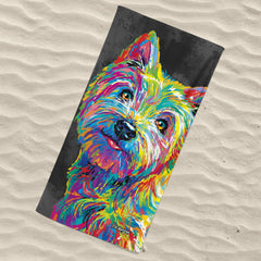 Marvin the Westie Beach Towel