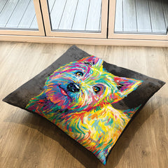 Marvin the Westie Floor Cushion
