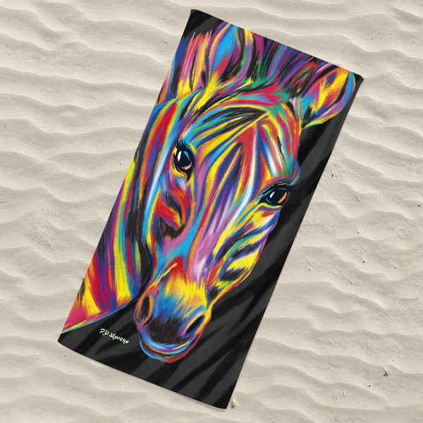 Laura the Zebra Beach Towel