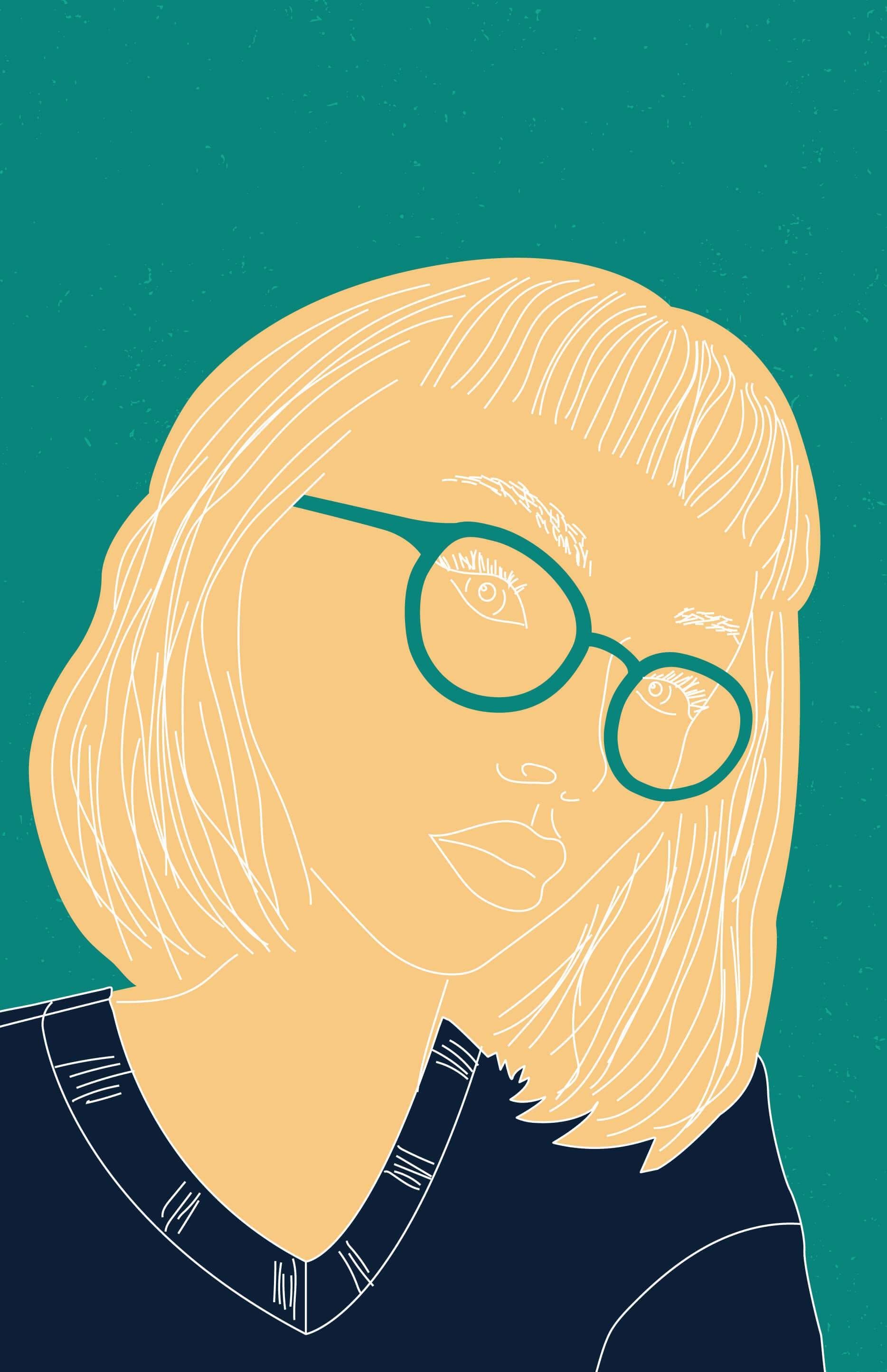 glasses girl digital illustration new zealand