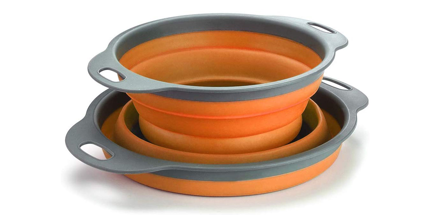 TANSUNG 2 Pack Collapsible Colanders - TS001