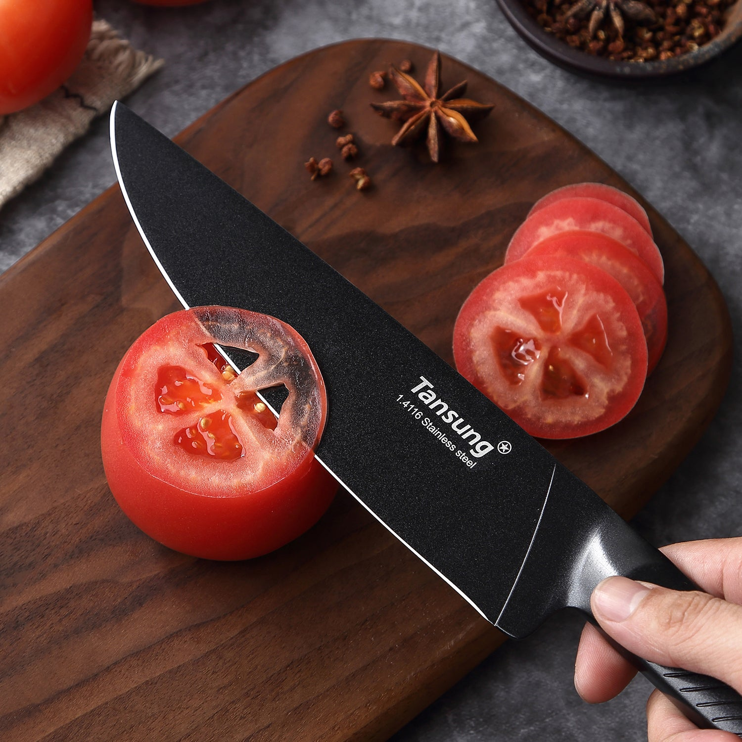 "TANSUNG Chef Knife 8"" Pro Kitchen Knife - CD700"