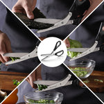 Load image into Gallery viewer, TANSUNG Herb Scissors with 5 Stainless Steel Blades - T4 - Black