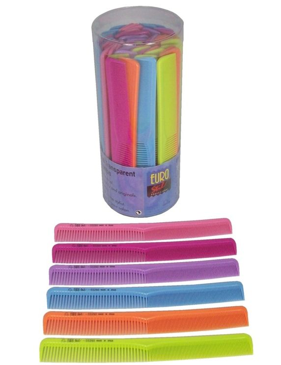 EuroStil Cutting Combs (Tub of 60 assorted colours)