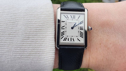 Cartier Tank affordable luxury watch brand