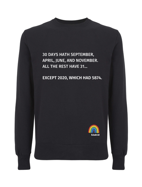 30 Days Hath September Jumper - Various Colours - Adult