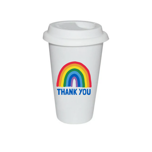 Rainbow Thermal Travel Cup