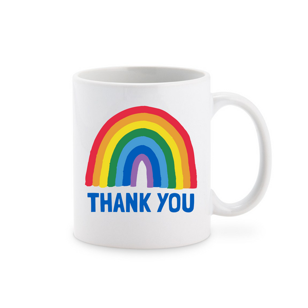 Rainbow Thank You Ceramic Mug