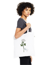 Load image into Gallery viewer, White Rose Tote Bag