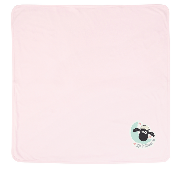 Shaun the Sheep Blanket Pink