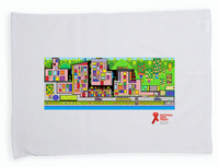 National AIDS Trust Red Ribbon Artwork Competition Teatowel