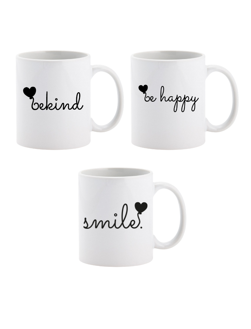 Be Kind Range Mugs - Set of 3