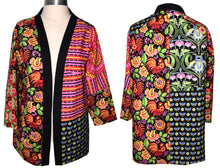 Load image into Gallery viewer, Bright Color Patchwork Cotton Print Kimono Style Jacket