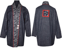 Load image into Gallery viewer, Japanese Indigo Cotton Kimono Jacket with Inset M/LG