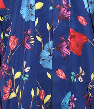 Load image into Gallery viewer, Royal Blue Floral Polyester Print Kimono Style Jacket