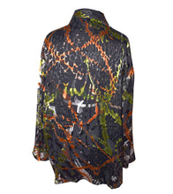 Load image into Gallery viewer, Copper and Black Silk/Rayon Devore Handsewn Silk Kimono Jacket