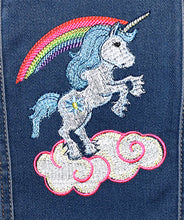 Load image into Gallery viewer, Child's Embroidered Unicorn Denim Jeans Jacket 3T