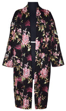 Load image into Gallery viewer, Embroidered Floral Hummingbird Lace Kimono Style Jacket