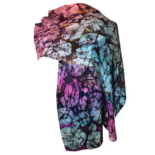 Load image into Gallery viewer, Multicolor Abstract Handpainted Silk Shawl/Scarf