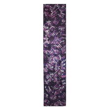Load image into Gallery viewer, Deep Violet Abstract Hand Painted Jacquard Silk Shawl/Scarf