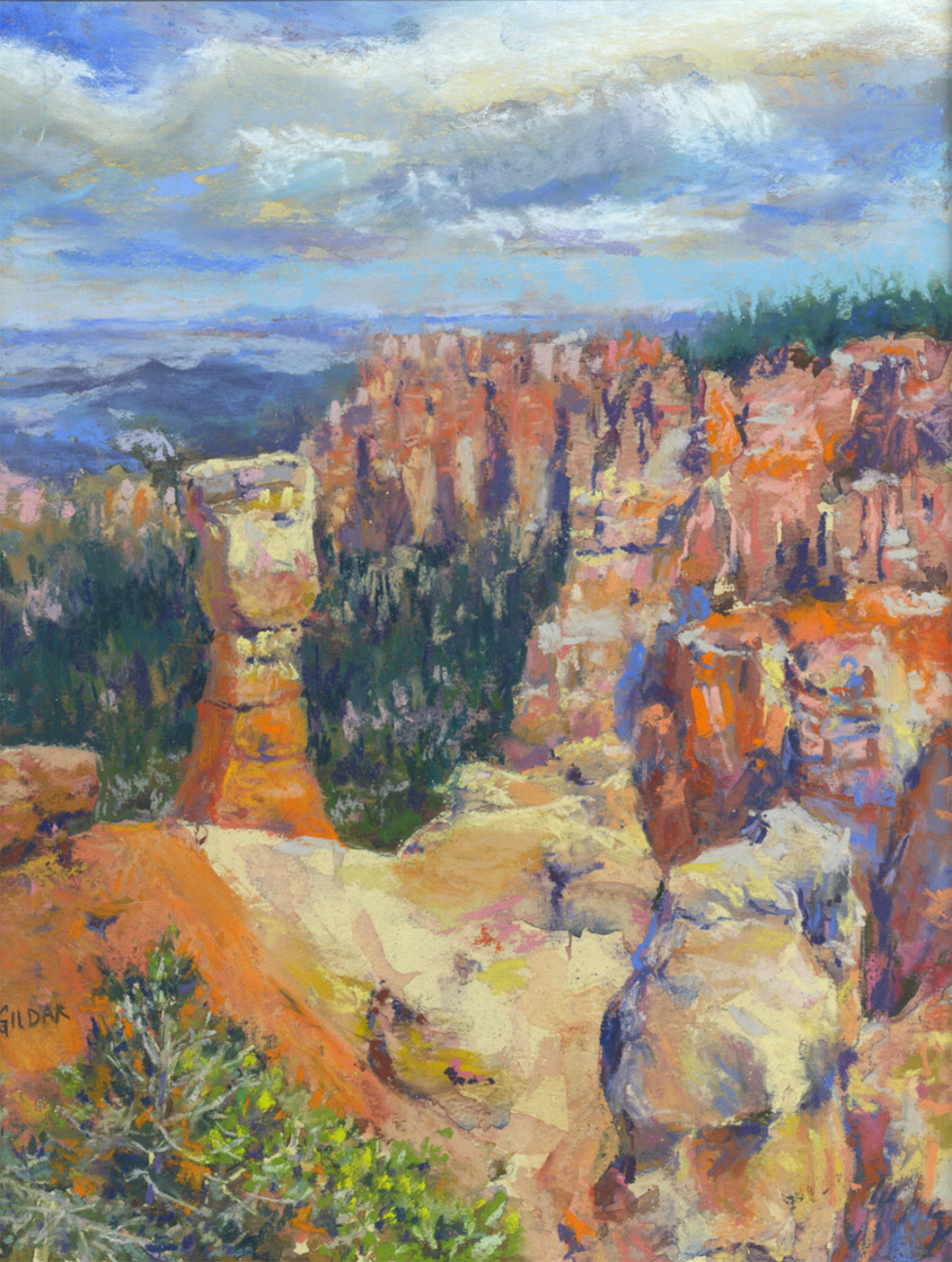 Bryce in the Spring Pastel Painting