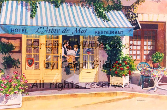 French Bistro Watercolor