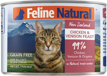Feline Natural Cat Can Food Chicken & Venison Feast
