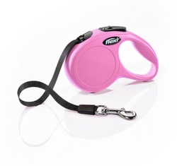 Flexi Dog Lead Pink 10' Tape - X-Small