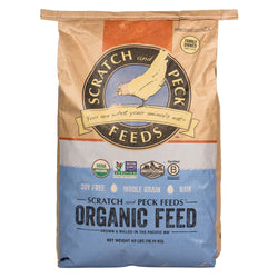 Scratch and Peck Organic Grower Feed for Chickens and Ducks 25lbs