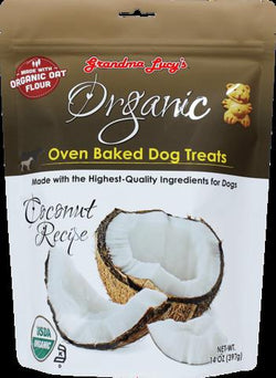 Grandma Lucy's Organic Oven Baked Dog Treat's Coconut Recipe 14 oz