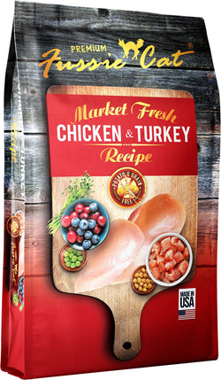 Fussie Cat Market Fresh Cat Dry Food Chicken & Turkey - 4lb