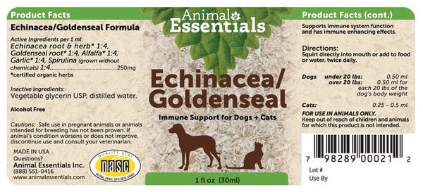 Animal Essentials Echinacea/Goldenseal Supplement