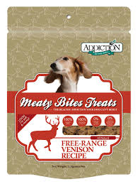 Addiction Dog Treats Venison 12 oz