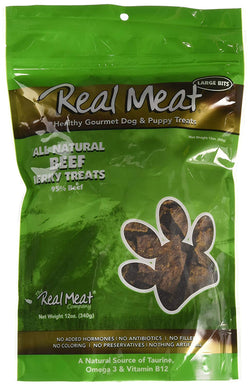 Real Meat Dog Treats Beef - 12oz
