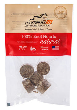 Momentum Freeze-Dried Beef Heart Treats - 1oz