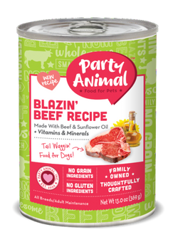 Party Animal Dog Food Blazin' Beef - 13oz
