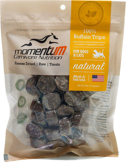 Momentum Freeze-Dried Buffalo Tripe Treats - 4oz