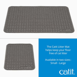 Catit Cat Litter Mat Grey - Small