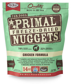 Primal Raw Freeze-Dried Dog Food Chicken - 14oz