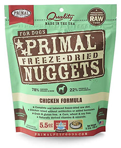 Primal Raw Freeze-Dried Dog Food Chicken - 5.5oz