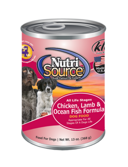 NutriSource Canned Dog Food Chicken Lamb & Oceanfish - 13oz