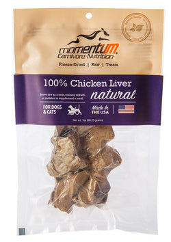 Momentum Freeze-Dried Chicken Liver Treats - 1oz