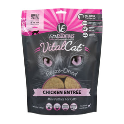 Vital Essentials Freeze-Dried Cat Food Chicken Patties - 8oz